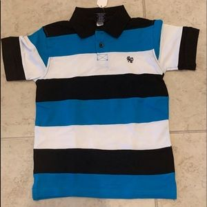 Multi color stripe collared shirt